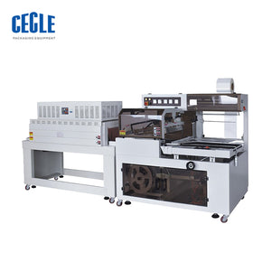 BF450+BS4522N SIDE SEAL AUTOMATIC THERMAL SHRINK PACKAGING AIRPORT PLASTIC ROLL WRAPPING MACHINE