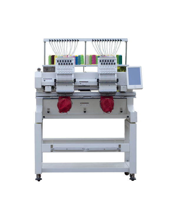 Double Head 12 needless Embroidery Machine Home Computer Embroidery Machine Multifunctional Three-in-One Embroidery Machine
