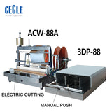 ACW-88A + A3DP-88 SEMI-AUTO CELLOPHANE WRAPPING MACHINE FOR CIGARETTE AND PERFUME BOX