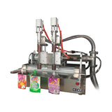 DF8 semi automatic two nozzles liquid gel and hand sanitizer pouch filling machine