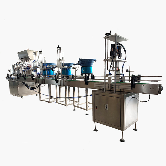Disinfectant and hand sanitizer filling and capping machine