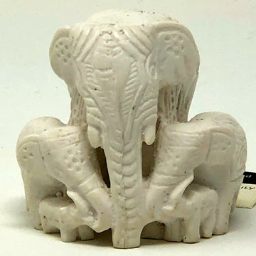 Elephant Family Carving