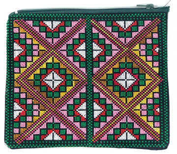 Bedouin Embroidery - Zippered Pouch