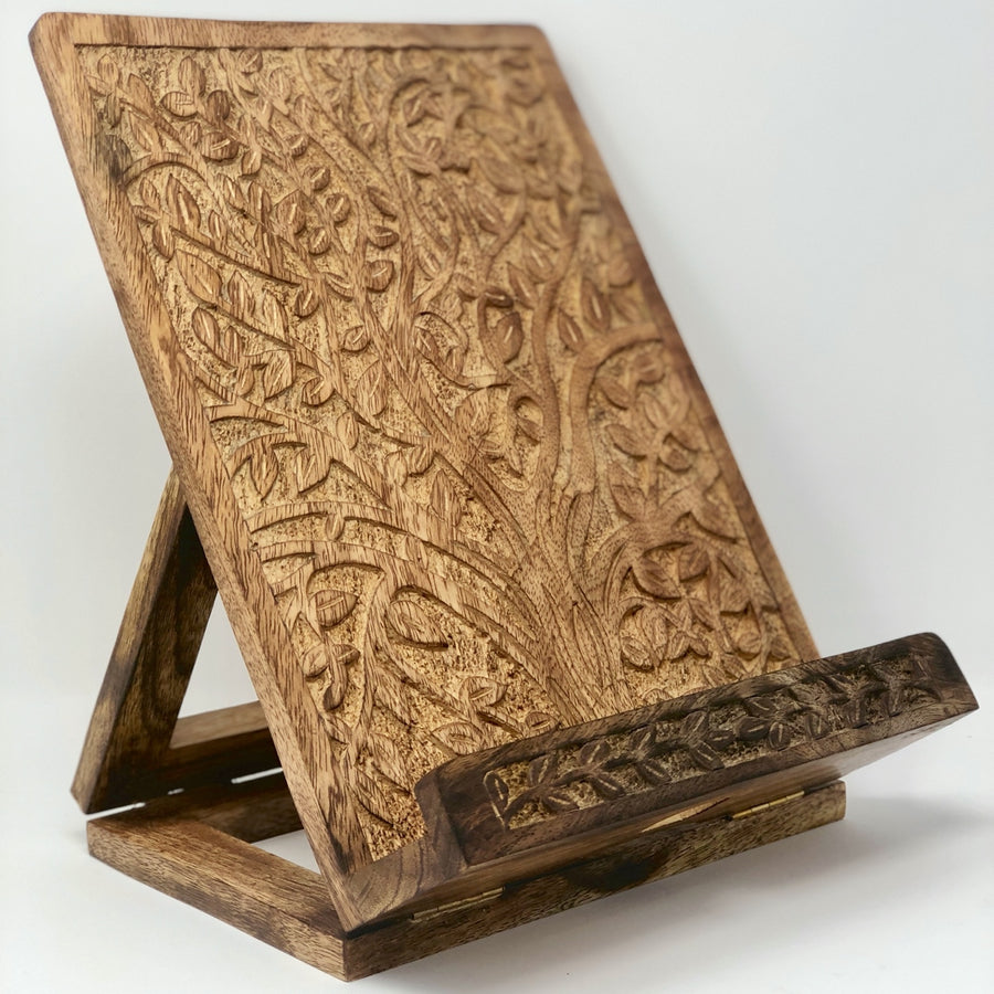 Mango Wood Tablet/ Book Stand