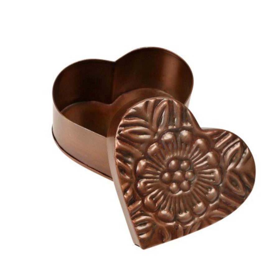 Copper-plated Heart Box