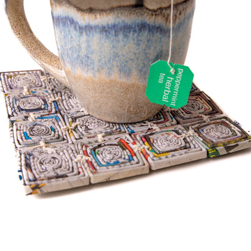 Upcycled Newspaper Trivet