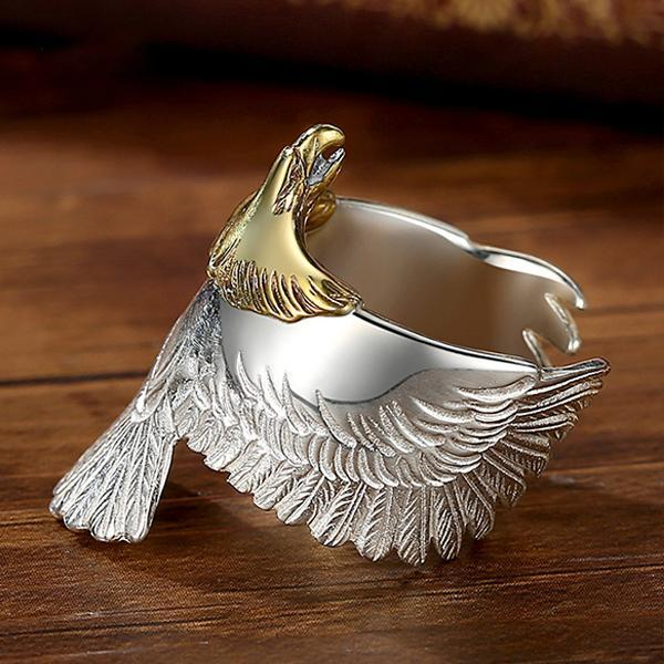 925 Sterling Silver Eagle Ring
