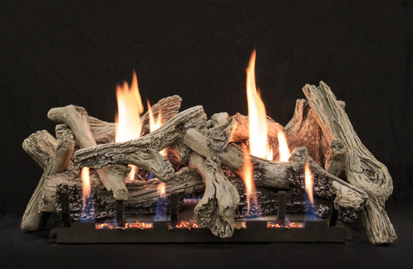 Driftwood Burncrete Ventless Gas Logs : Vent Free Logs - The Gas Log Experts