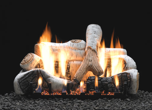Birch Vented Gas Logs : Vented Logs - The Gas Log Experts