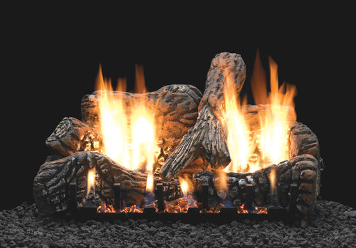 Charred Oak Ceramic Fiber Vented Gas Logs : Vented Logs - The Gas Log Experts