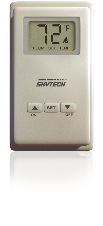 Skytech Wireless Thermostat Wall Mounted Controler For Millivolt Gas Logs : Remote Controls - The Gas Log Experts