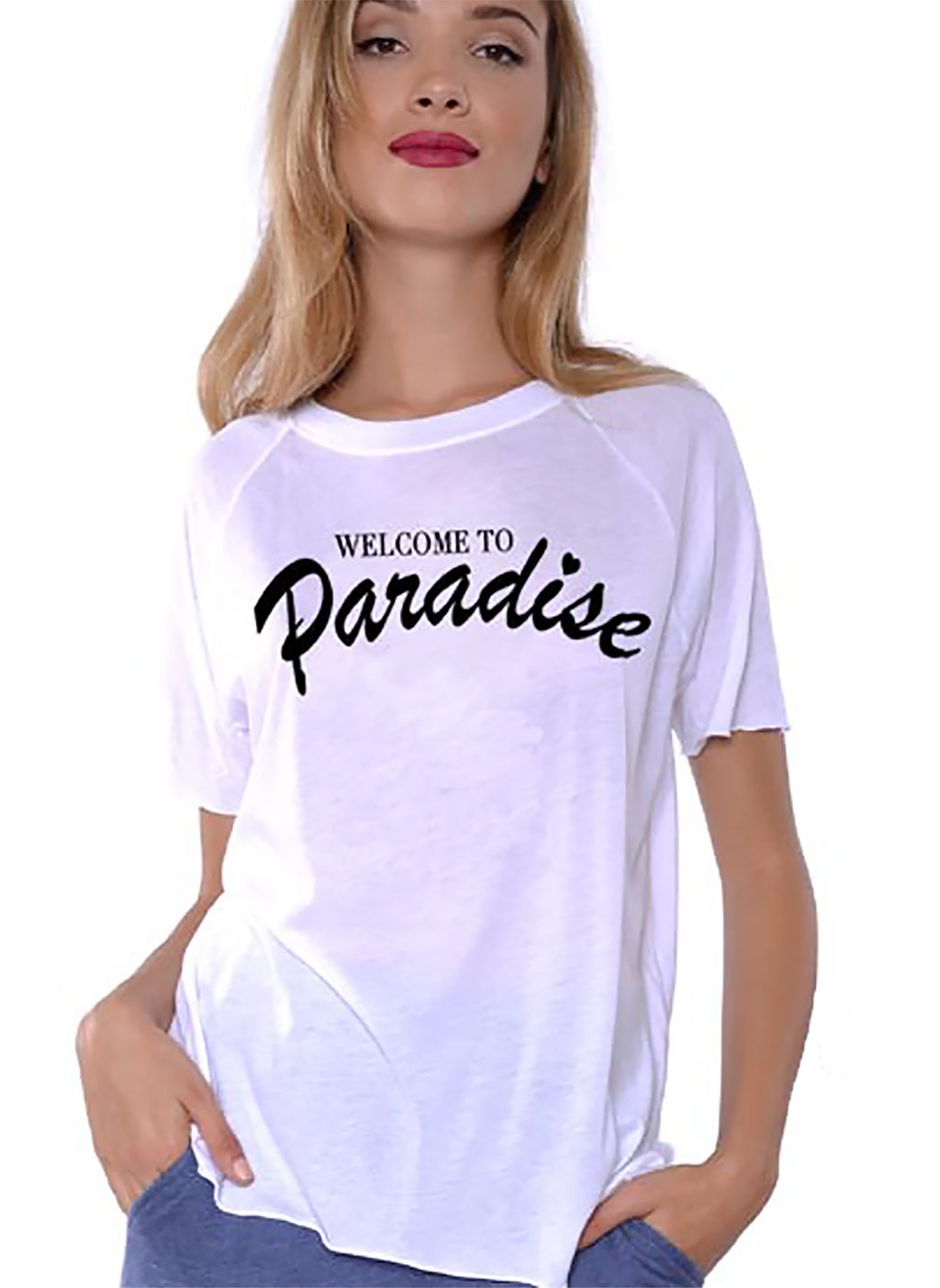 Welcome to Paradise Crew Neck TEE
