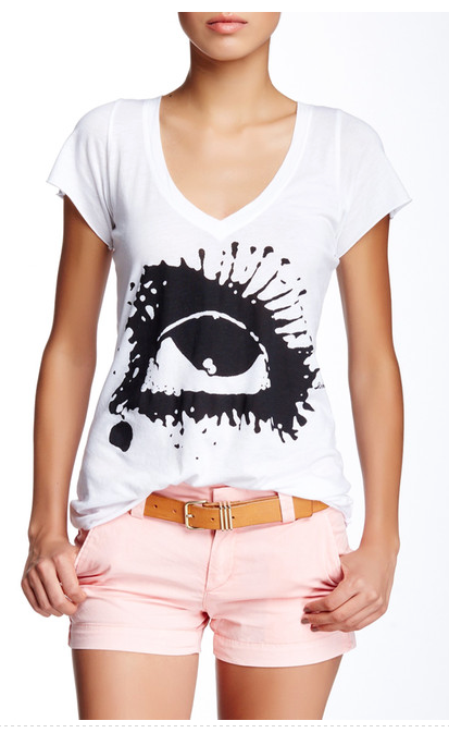 Tear Drops V-Neck TEE