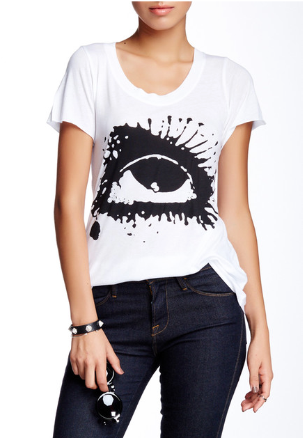 Tear Drops Crew Neck TEE