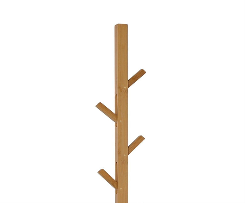 ANDREA HOUSE AX14086 Perchero Bamboo/Metal Blanco 176 H.