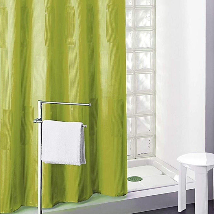 GEDY CO11811230 MONOCOLOR Cortina 180X200 Pes Verde