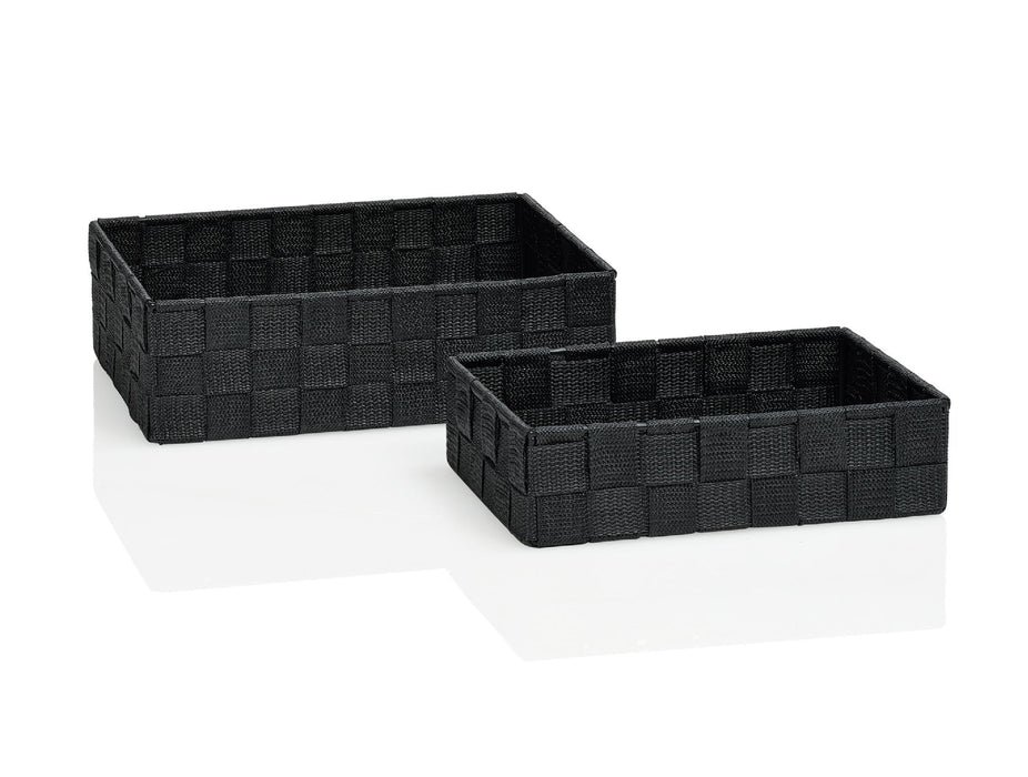 ANDREA HOUSE BA64197 Set 2 Cajas Rectangulares Gris