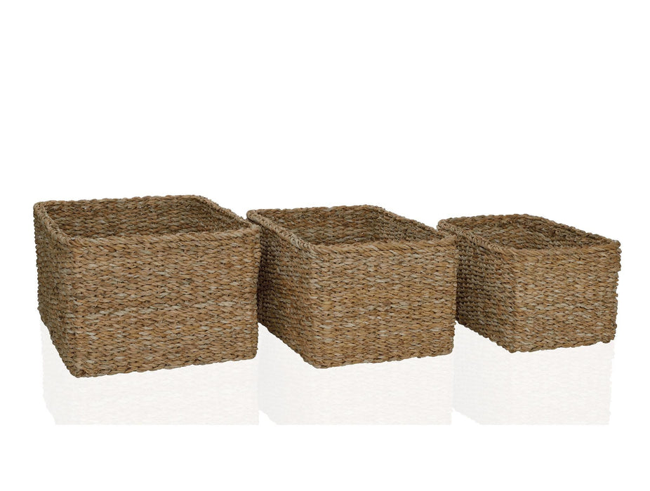 ANDREA HOUSE AX15193 Set De 3 Cestas Rectangular