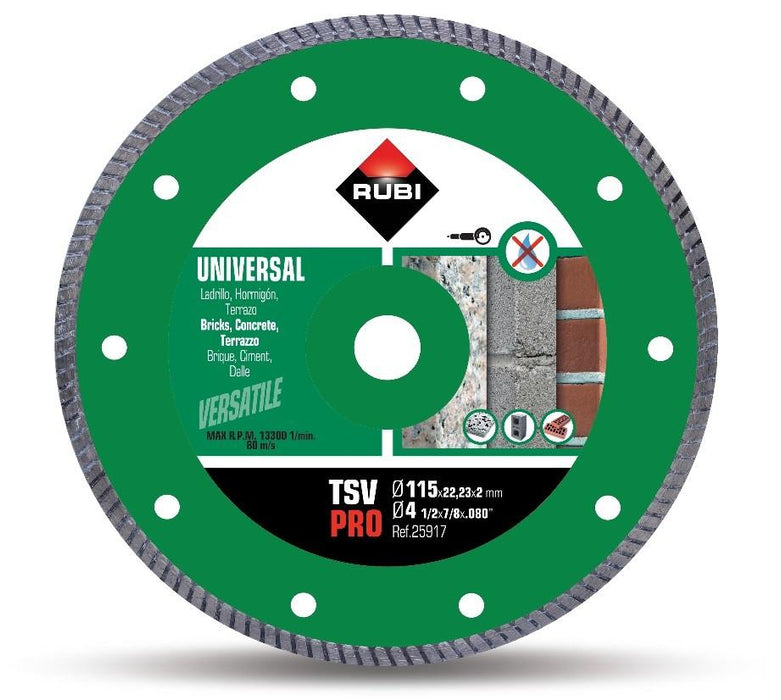 RUBI 25917 Tsv 115 Pro Diamante General Obra Turbo