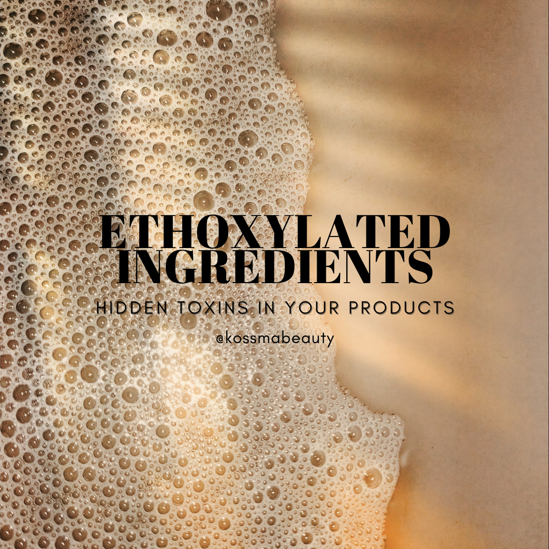 ethoxylated ingredients 1,4 dioxane, ethylene oxide, no pufa skincare