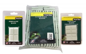 POND ONE Blocks Pond Algae Eliminator 1kg Bulk 50 Bag 50x20g