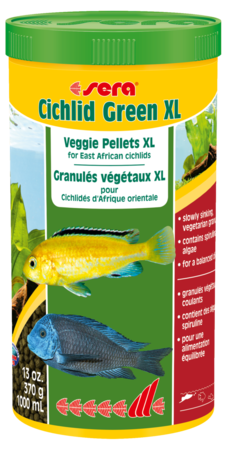 Sera Cichlid Green XL 370g/1L (past or close to code)