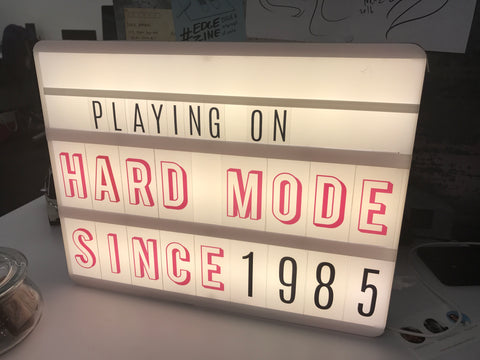 Tabletop marquis sign