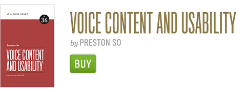Buy Voice Content and Usability