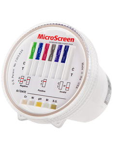 MicroScreen 6 Panel Urine Drug Test Cup and Lid