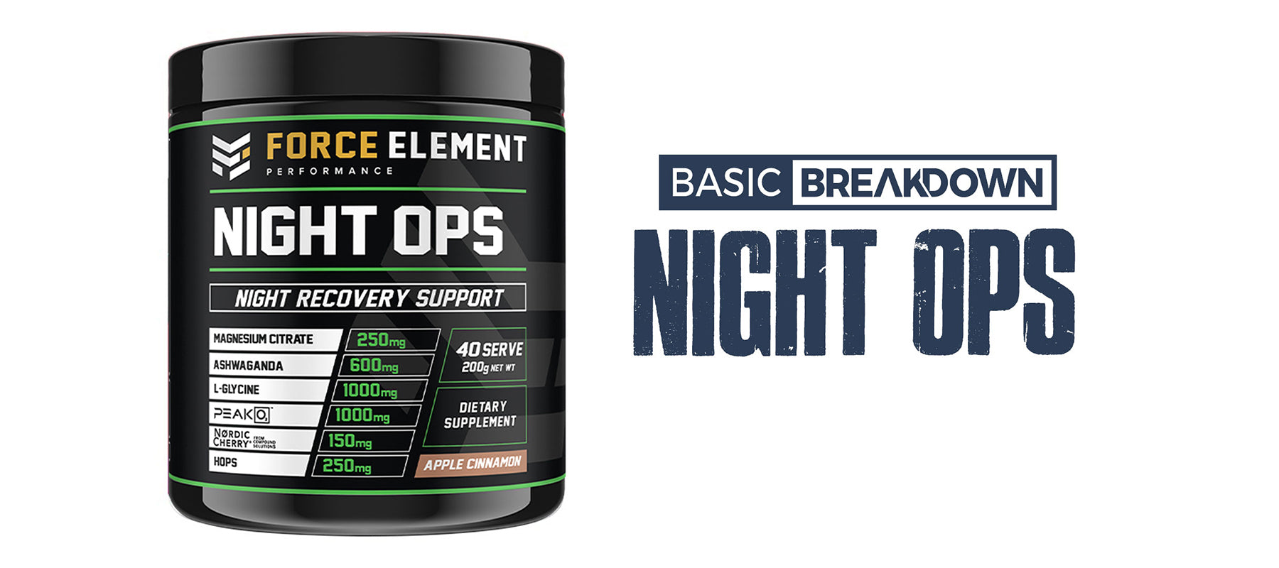 Force Element Night Ops Sleep Supplement Review | Basic Breakdown