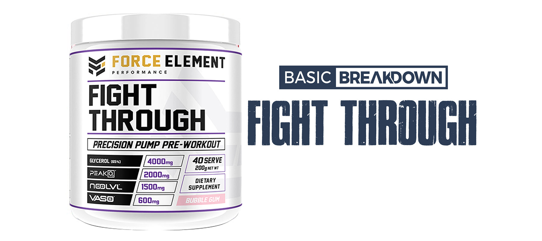 Force Element Fight Through Pump Supplement Review | Basic Breakdown