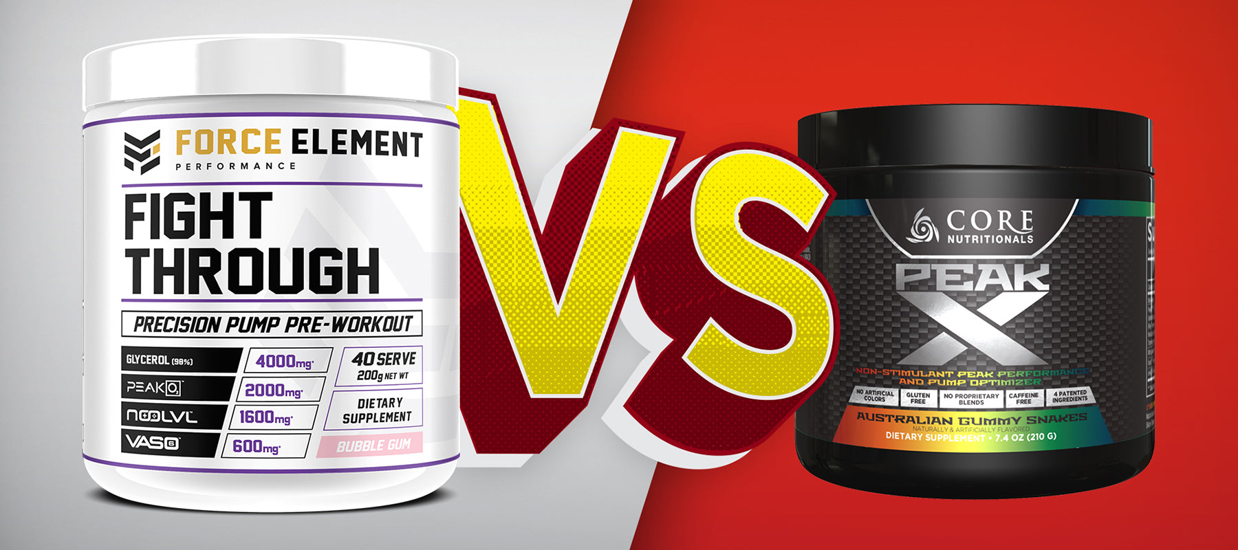 Force Element Performance Fight Through v Core Nutritionals Peak X | SUPPWARS