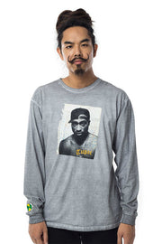 Tupac Poet Long Sleeve Tee - Vintage Grey