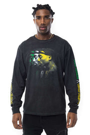 Tupac Transparant Long Sleeve Tee - Vintage Black