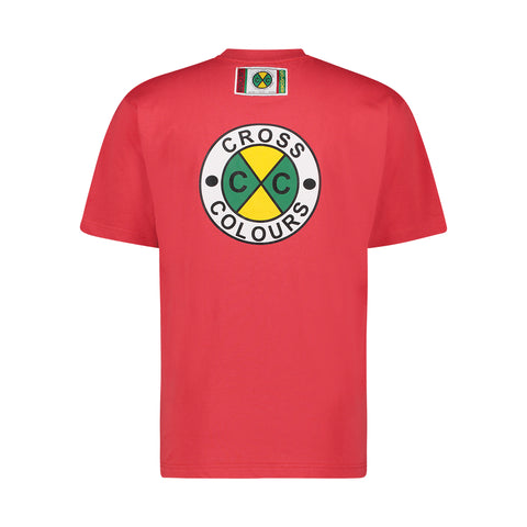 CIRCLE LOGO T-SHIRT - RED