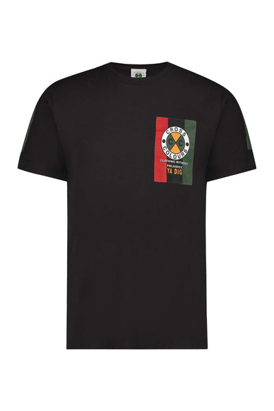 Cross Colours Clothing Without Prejudice T-Shirt - Black