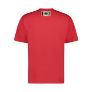 LABEL LOGO T-SHIRT - RED