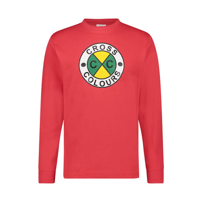 CIRCLE LOGO L/S T-SHIRT - RED