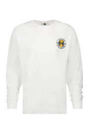 Circle Logo Long Sleeve T-Shirt - White