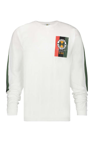 Flag Logo Long Sleeve T-Shirt - White