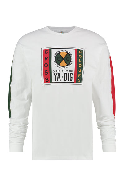 Cross Colours Ya Dig Long Sleeve T-Shirt - White