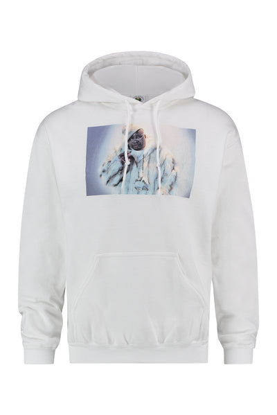 Cross Colours E40 Fur Hoodie - White
