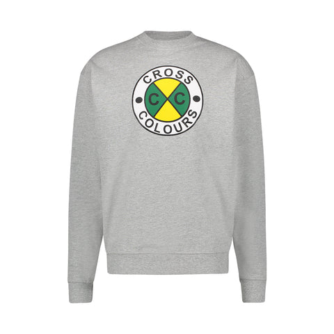 CIRCLE LOGO SWEATSHIRT - HEATHER GREY