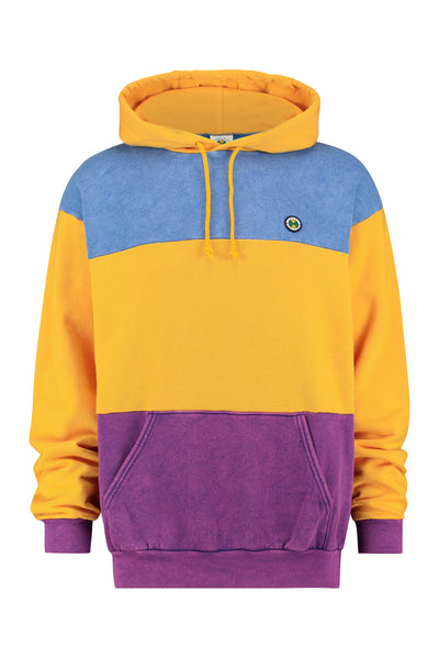 Colour Block Hoodie - Yellow