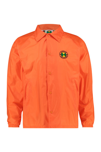 Cross Colours Classic Embroidered Coach Jacket - Orange