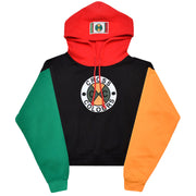 Women - Cross Colours Colour Block Crop Hoodie - Multi