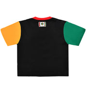 Women - Cross Colours Colour Block Crop T-Shirt - Multi