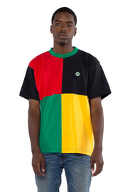 Colour Block Square T-Shirt - Multi