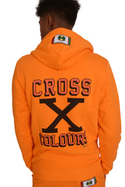 CROSS X COLOURS PULLOVER HOODIE - ORANGE