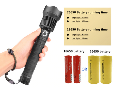 flashlight battery life